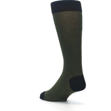 Image of Green Brown Jackalope Men's Dress Socks (side-2-back-15)