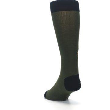 Image of Green Brown Jackalope Men's Dress Socks (side-2-back-16)