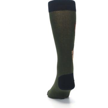 Image of Green Brown Jackalope Men's Dress Socks (back-17)