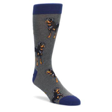 Gray-Black-Rottweiler-Dog-Mens-Dress-Socks-Socksmith