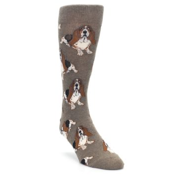 Light-Brown-Hound-Dog-Mens-Dress-Socks-Socksmith