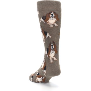 Image of Light Brown Hound Dog Men's Dress Socks (side-2-back-16)