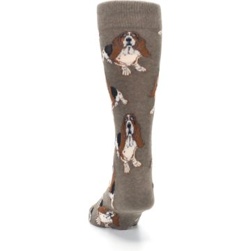 Image of Light Brown Hound Dog Men's Dress Socks (back-17)