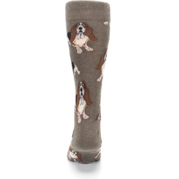 Image of Light Brown Hound Dog Men's Dress Socks (back-18)