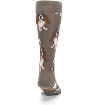 Image of Light Brown Hound Dog Men's Dress Socks (back-19)