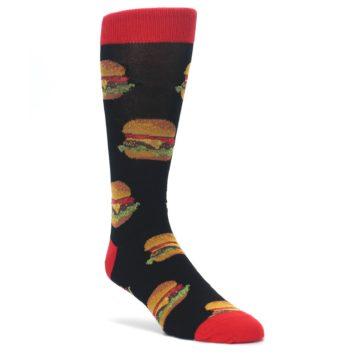 Black-Multi-Cheese-Burger-Mens-Dress-Socks-Socksmith