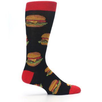 Image of Black Multi Cheese Burger Men's Dress Socks (side-1-24)