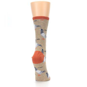 Image of Beige Dats Coo Pigeon Bird Women's Dress Socks (side-1-back-20)