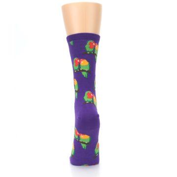 Image of Purple Multi Love Birds Women's Dress Socks (back-18)