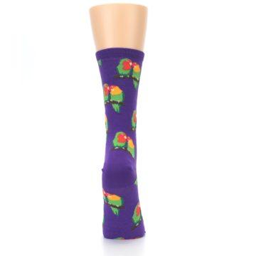 Image of Purple Multi Love Birds Women's Dress Socks (back-19)