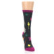 Image of Charcoal Multi Artist Paint Palette Women's Dress Socks (side-1-front-03)