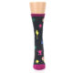 Image of Charcoal Multi Artist Paint Palette Women's Dress Socks (front-05)