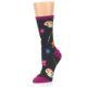 Image of Charcoal Multi Artist Paint Palette Women's Dress Socks (side-2-09)