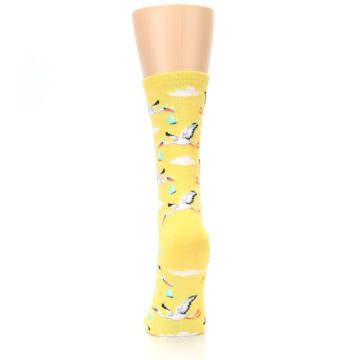 Image of Yellow Special Delivery Stork Women's Dress Socks (back-18)