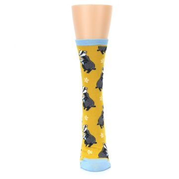 Image of Yellow Bashful Badger Women's Dress Socks (front-05)