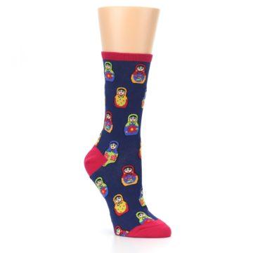 Navy-Multi-Nesting-Dolls-Womens-Dress-Socks-Socksmith