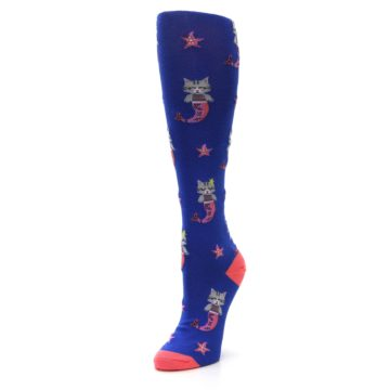 Image of Blue Coral Purrmaid Cat Women's Knee High Sock (side-2-front-08)