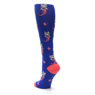 Image of Blue Coral Purrmaid Cat Women's Knee High Sock (side-2-back-15)