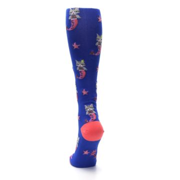 Image of Blue Coral Purrmaid Cat Women's Knee High Sock (back-17)