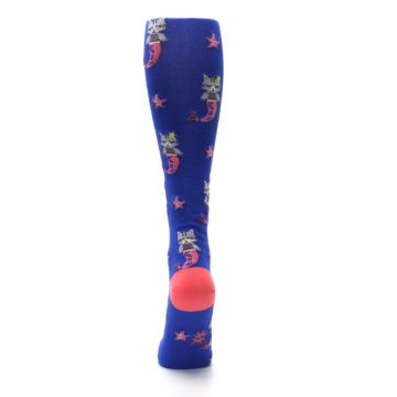Image of Blue Coral Purrmaid Cat Women's Knee High Sock (back-18)