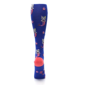 Image of Blue Coral Purrmaid Cat Women's Knee High Sock (back-19)