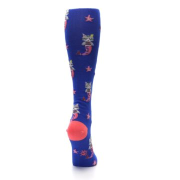 Image of Blue Coral Purrmaid Cat Women's Knee High Sock (side-1-back-20)