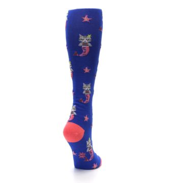 Image of Blue Coral Purrmaid Cat Women's Knee High Sock (side-1-back-21)