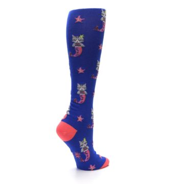 Image of Blue Coral Purrmaid Cat Women's Knee High Sock (side-1-23)