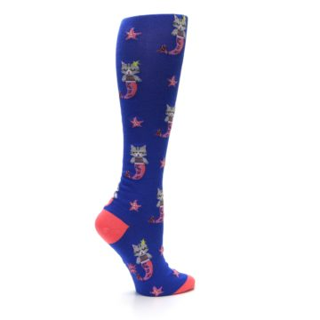 Image of Blue Coral Purrmaid Cat Women's Knee High Sock (side-1-24)