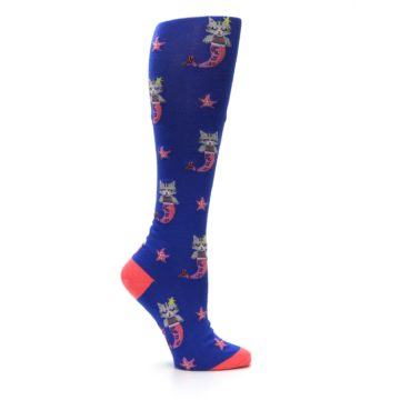 Image of Blue Coral Purrmaid Cat Women's Knee High Sock (side-1-25)