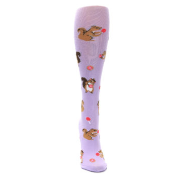 Image of Purple Brown Squirreling Around Women's Knee High Sock (front-04)