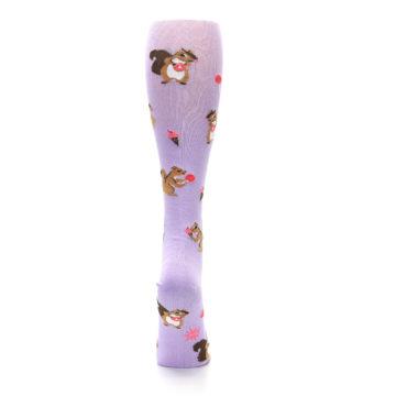 Image of Purple Brown Squirreling Around Women's Knee High Sock (back-19)