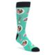 Image of Seafoam Ra-Man Noodles Men's Dress Socks (side-1-front-01)