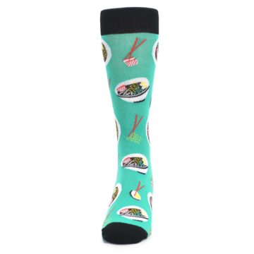 Image of Seafoam Ra-Man Noodles Men's Dress Socks (front-05)