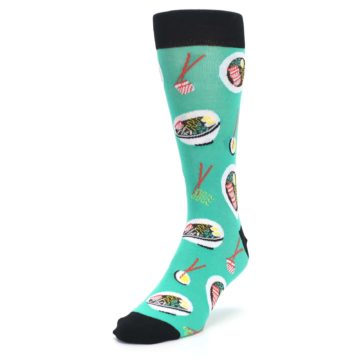 Image of Seafoam Ra-Man Noodles Men's Dress Socks (side-2-front-07)