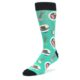 Image of Seafoam Ra-Man Noodles Men's Dress Socks (side-2-front-08)