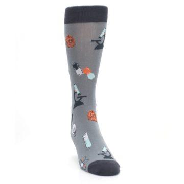 Image of Gray Science Lab Men's Dress Socks (side-1-front-03)