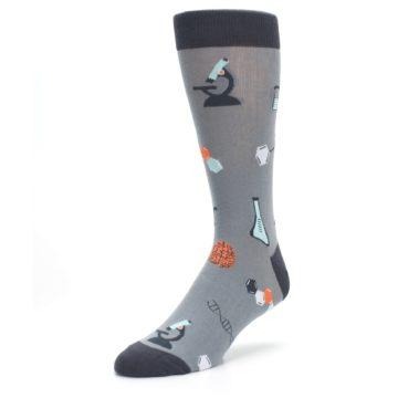 Image of Gray Science Lab Men's Dress Socks (side-2-front-08)