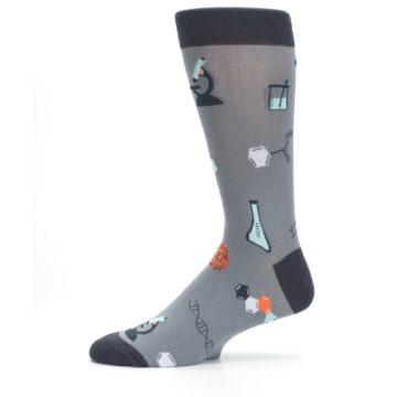 Image of Gray Science Lab Men's Dress Socks (side-2-11)