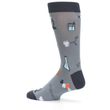 Image of Gray Science Lab Men's Dress Socks (side-2-13)