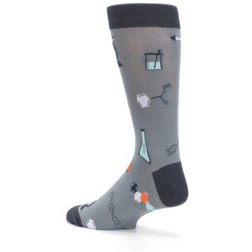 Image of Gray Science Lab Men's Dress Socks (side-2-back-14)
