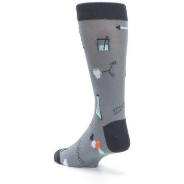 Image of Gray Science Lab Men's Dress Socks (side-2-back-15)