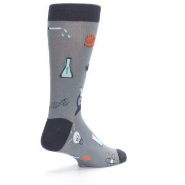 Image of Gray Science Lab Men's Dress Socks (side-1-back-22)