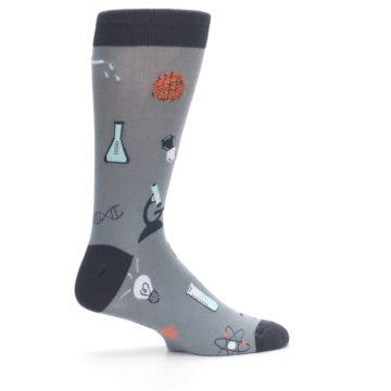 Image of Gray Science Lab Men's Dress Socks (side-1-24)