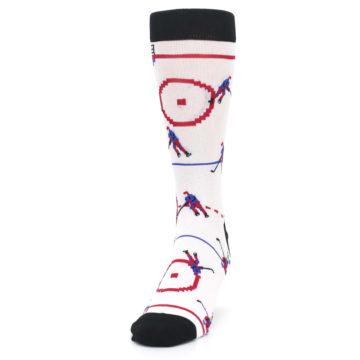 Image of White Ice Hockey Men's Dress Socks (side-2-front-06)