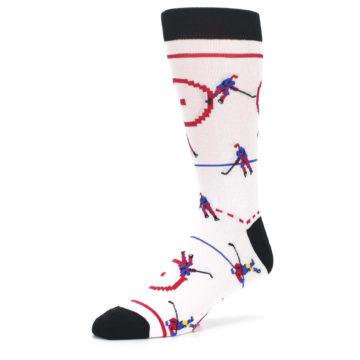 Image of White Ice Hockey Men's Dress Socks (side-2-09)