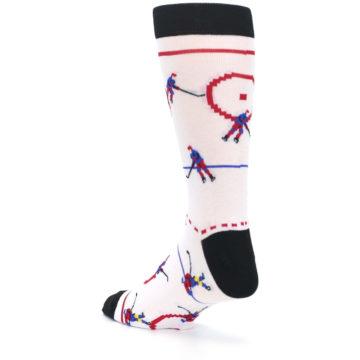Image of White Ice Hockey Men's Dress Socks (side-2-back-15)