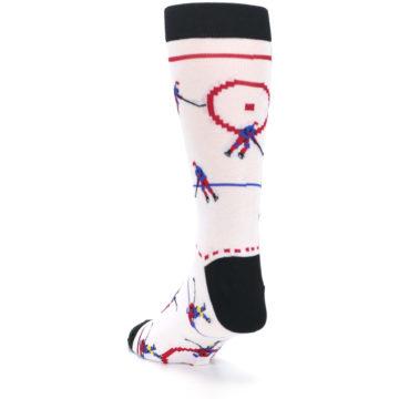 Image of White Ice Hockey Men's Dress Socks (side-2-back-16)