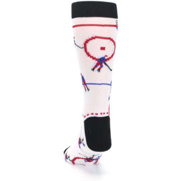 Image of White Ice Hockey Men's Dress Socks (back-17)