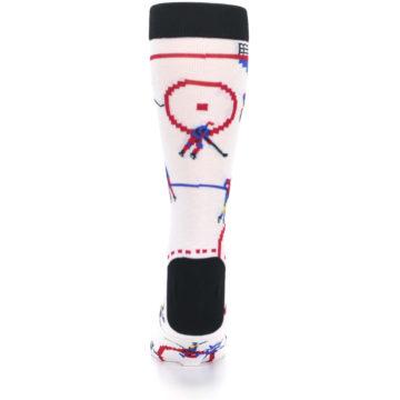 Image of White Ice Hockey Men's Dress Socks (back-18)